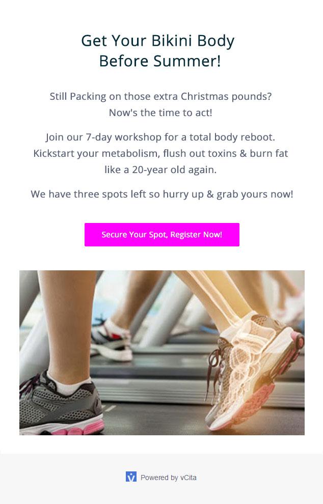 vCita email campaign