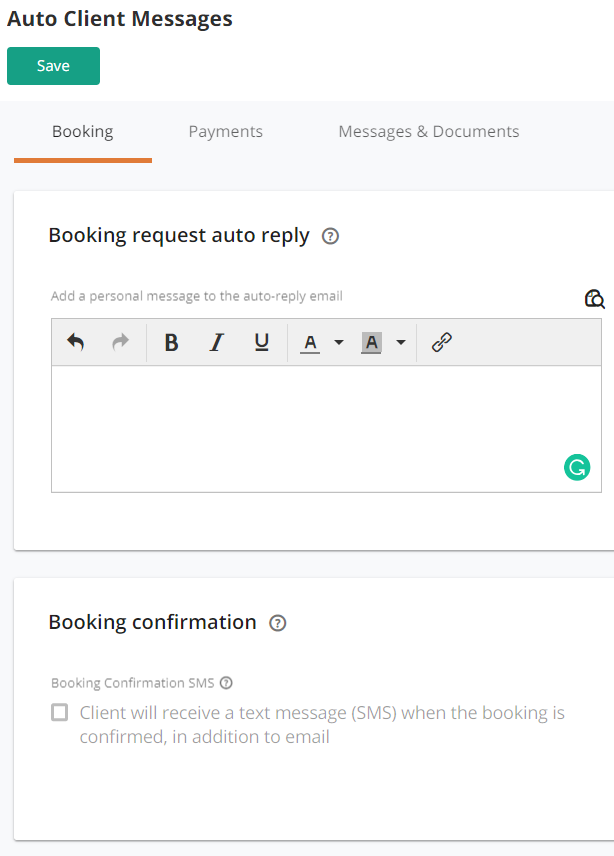 Booking confirmations give your clients peace of mind