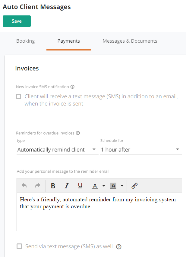 Payment reminders help keep more money in your bank account