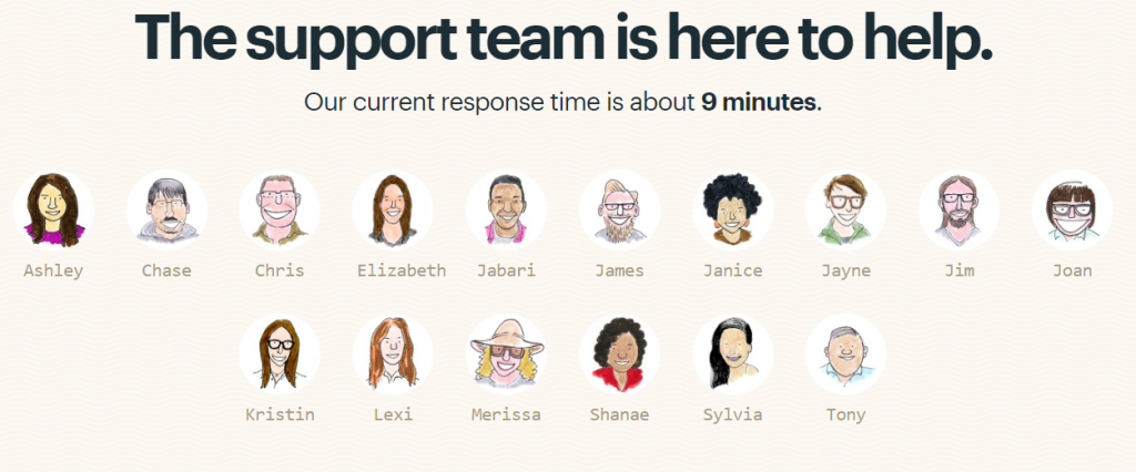 Basecamp provides real-time support with real-time reps