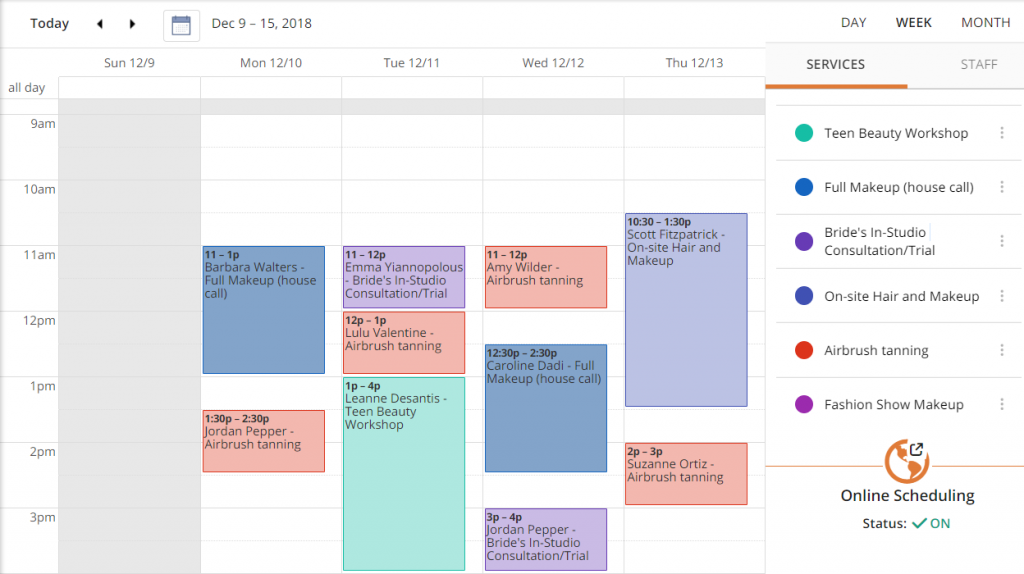 Color code your business calendar