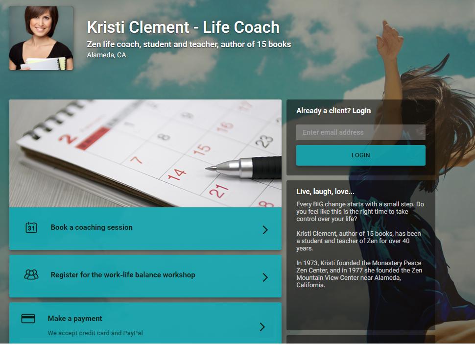 Self-service client portal by vCita