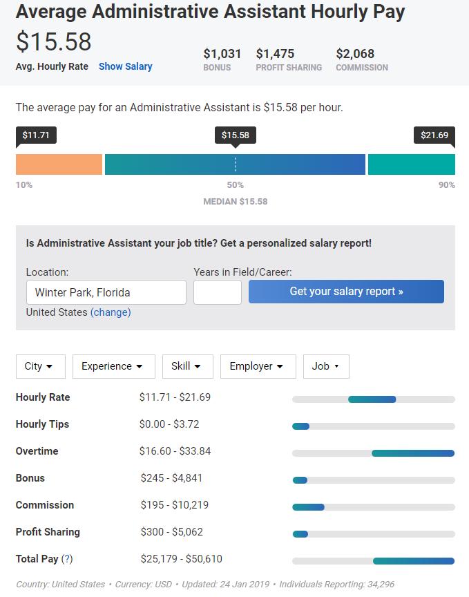 PayScale screenshot