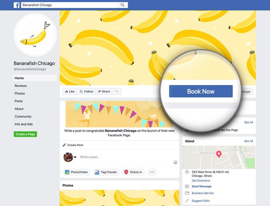 Use vCita to accept bookings directly from your Facebook page