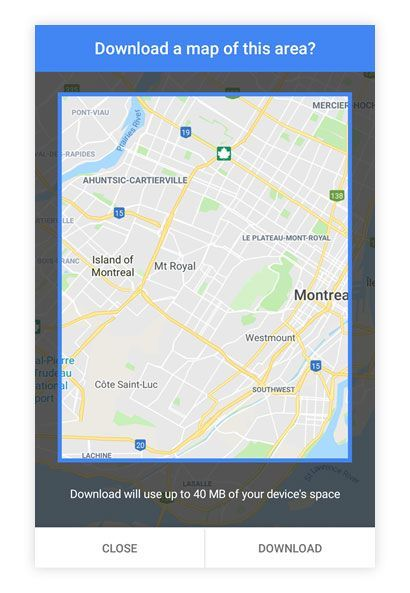 Google Maps tips- Download your maps