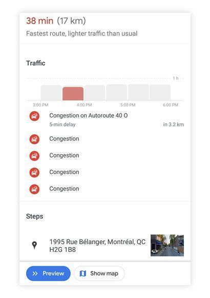 Google Maps tips - View traffic forecasts