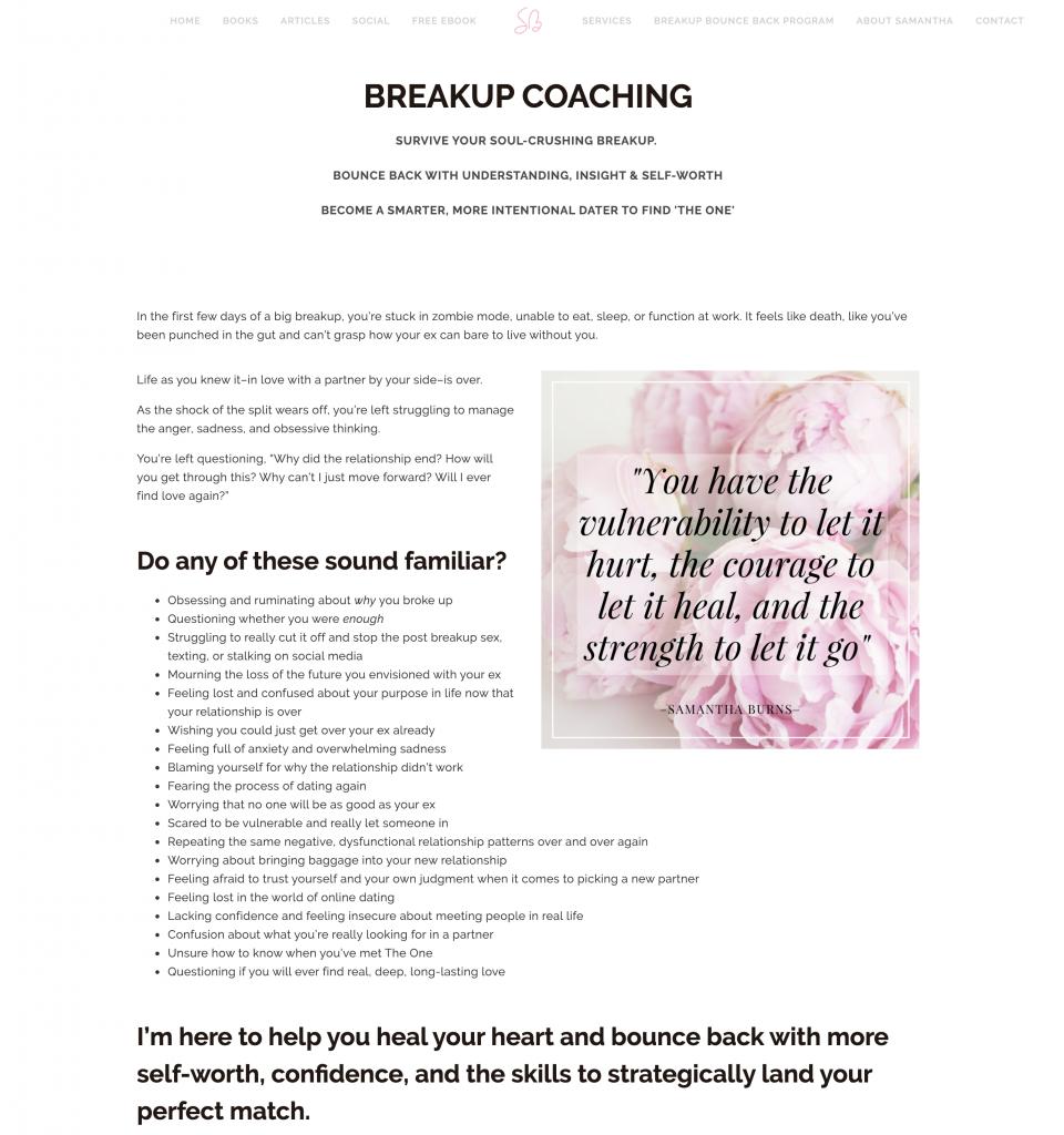 Breakup coaching — Samantha Burns Marriage Counselor Dating Coach