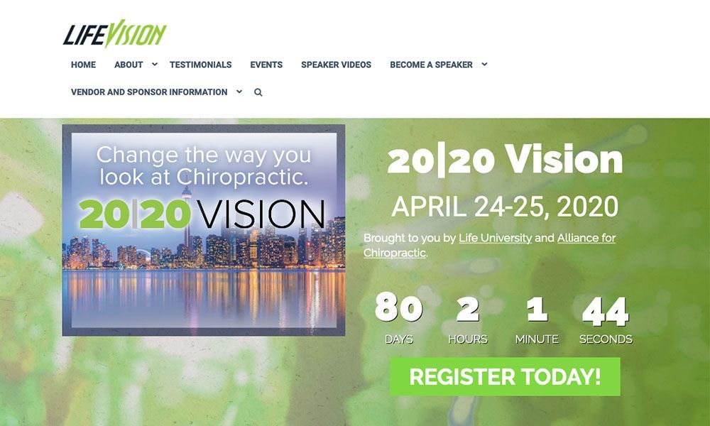 landing page lifevision