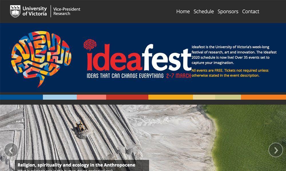 Idea Fest landing page