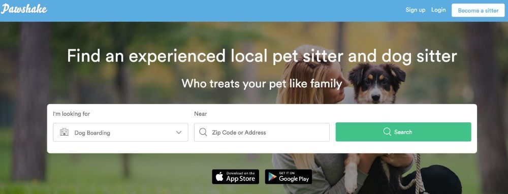 dogsitter landing page