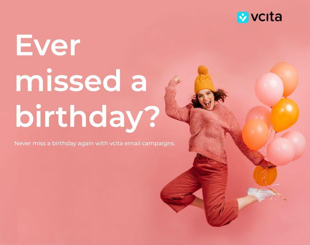 email campaign birthday hvid tekst