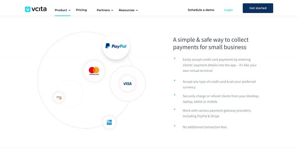 credit card processing vcita