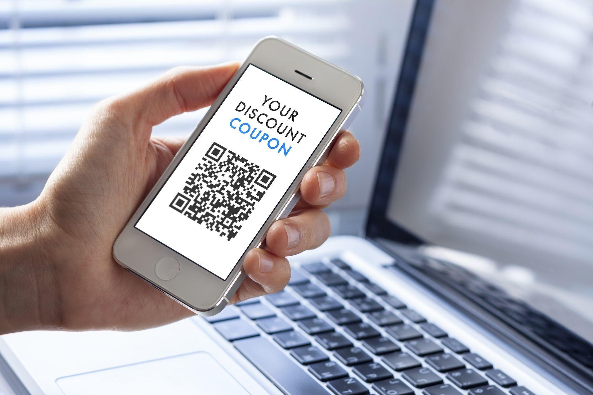 QR digital coupon code