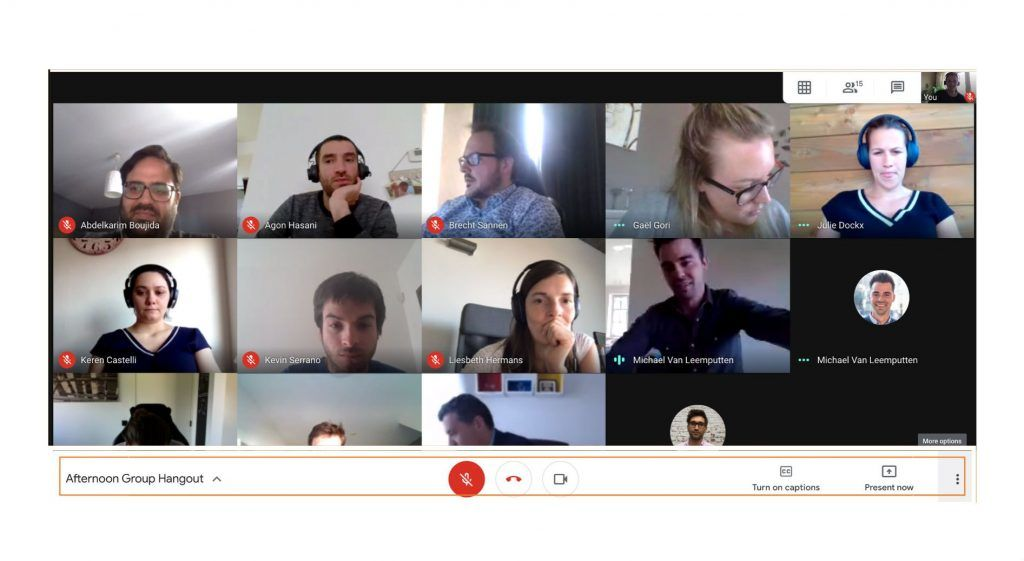 face to face google hangouts