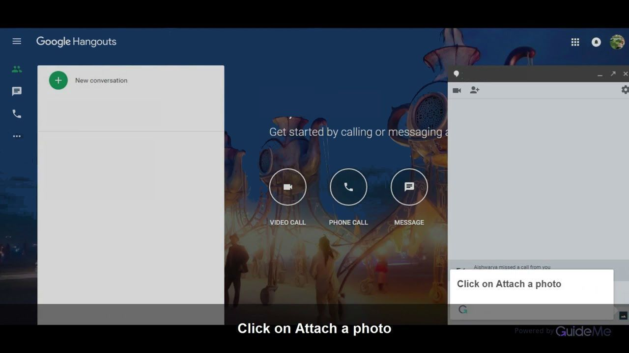 google hangouts send images and files